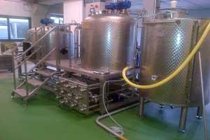 Microcervecerías completas a vapor – floreado/500 l.